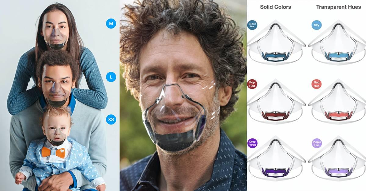 戴口罩也看得到脸!美国厂商推出透明口罩,可媲美N99+口罩!多种颜色和不同尺寸大小供顾客选择!