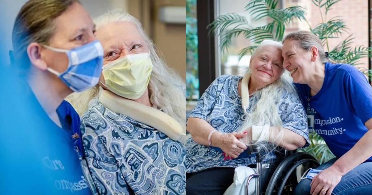 美国73岁妇女确诊冠病送院!意外与失散50年的护士妹妹重逢!