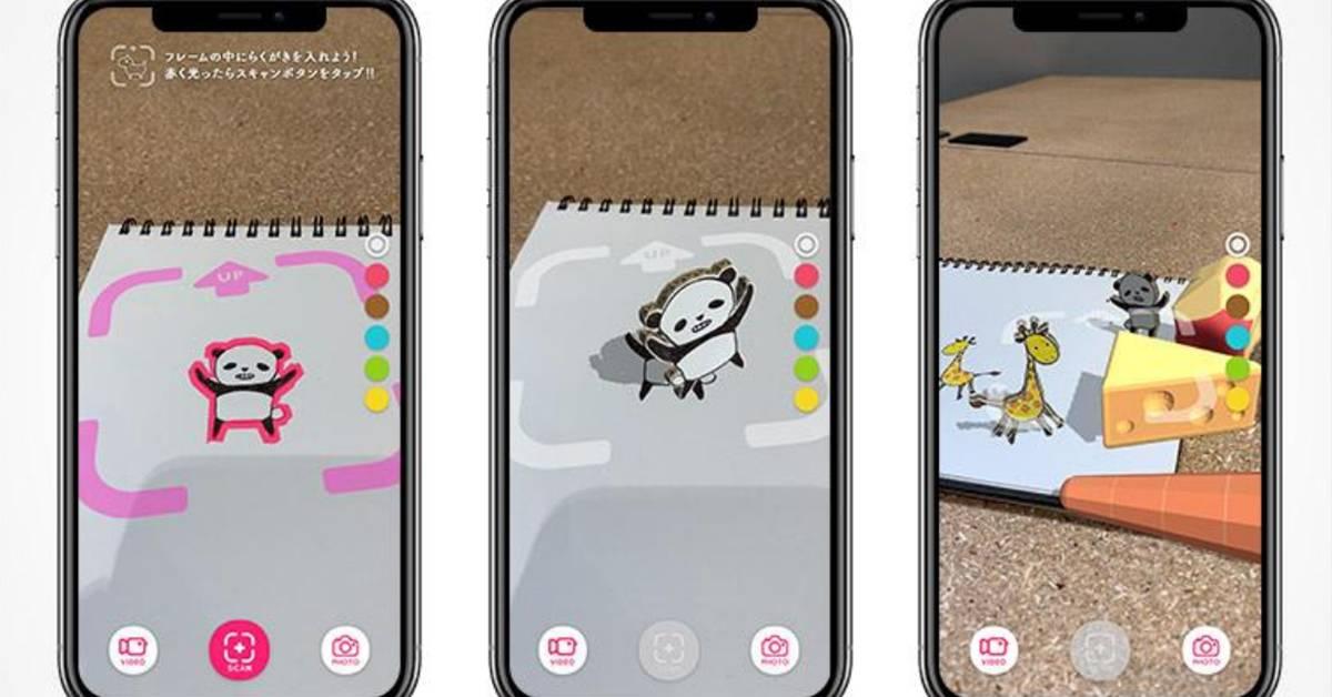 """日本AR App一夜爆红!【Rakugaki AR】让海贼王""""活""""起来了!给你的画作喂食和铲屎吧!"""