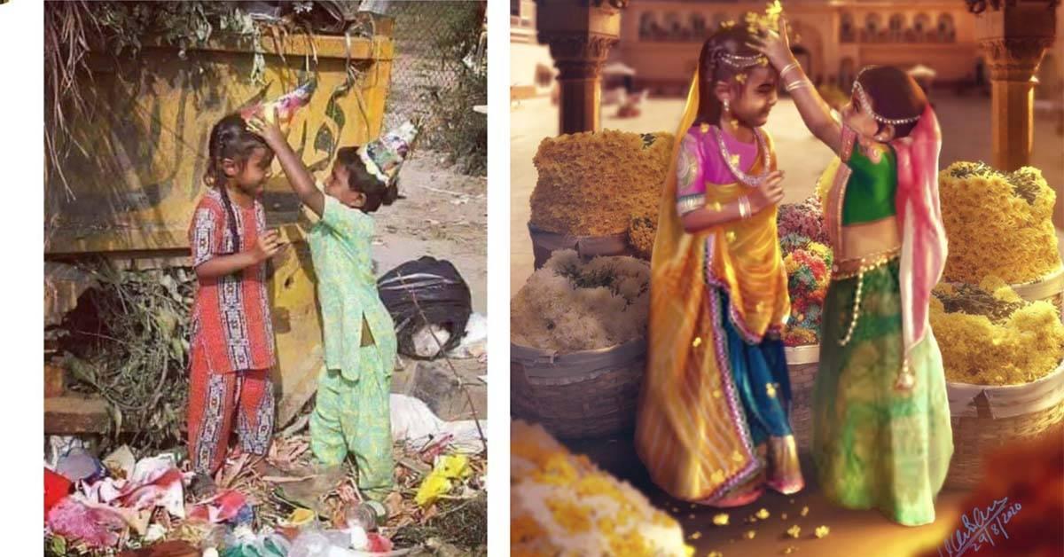 P图技术这样用最高级!印度平面艺术家把人物和自然景观都神化了!