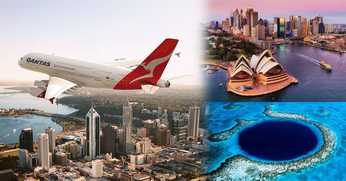 """满足想飞的欲望!澳洲航空公司推出""""假出国""""航班!"""