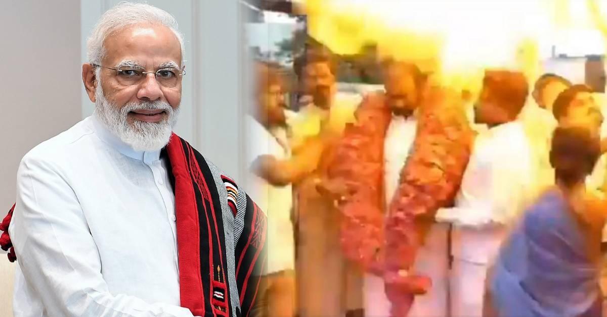 印度总理莫迪庆生活动意外引爆气球串!造成超过30人受伤!