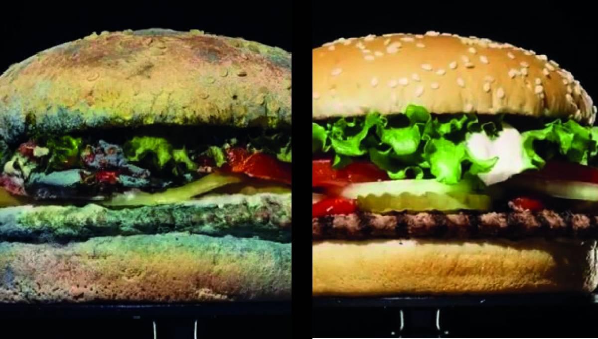 Burger King广告令人反感、恶心?!发霉汉堡却引来消费者好评!