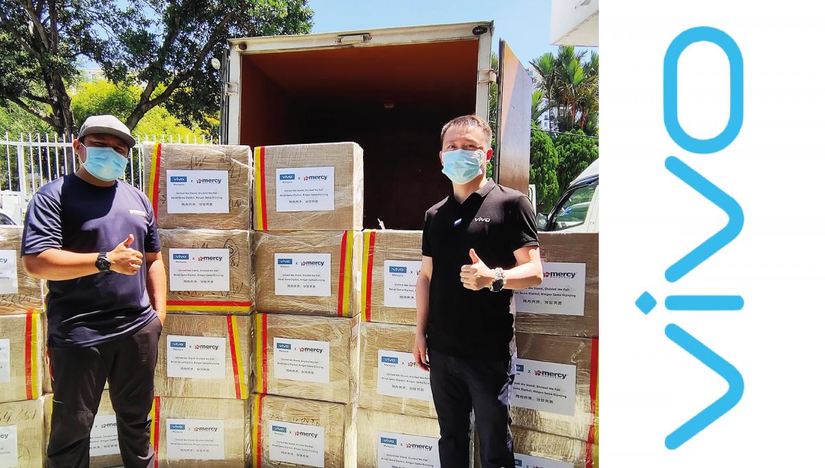 vivo Malaysia继续送温暖!与Mercy合作送两万口罩给予弱势群体!