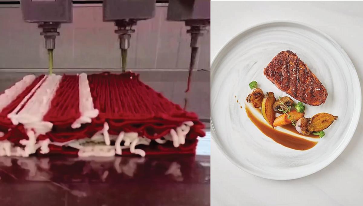 3D打印机每小时产出20公斤素牛扒!零胆固醇、口感似真肉!