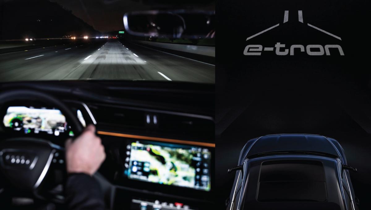 Audi推出全新LED车灯黑科技!虚拟车道和导航直接投影在路面上?!