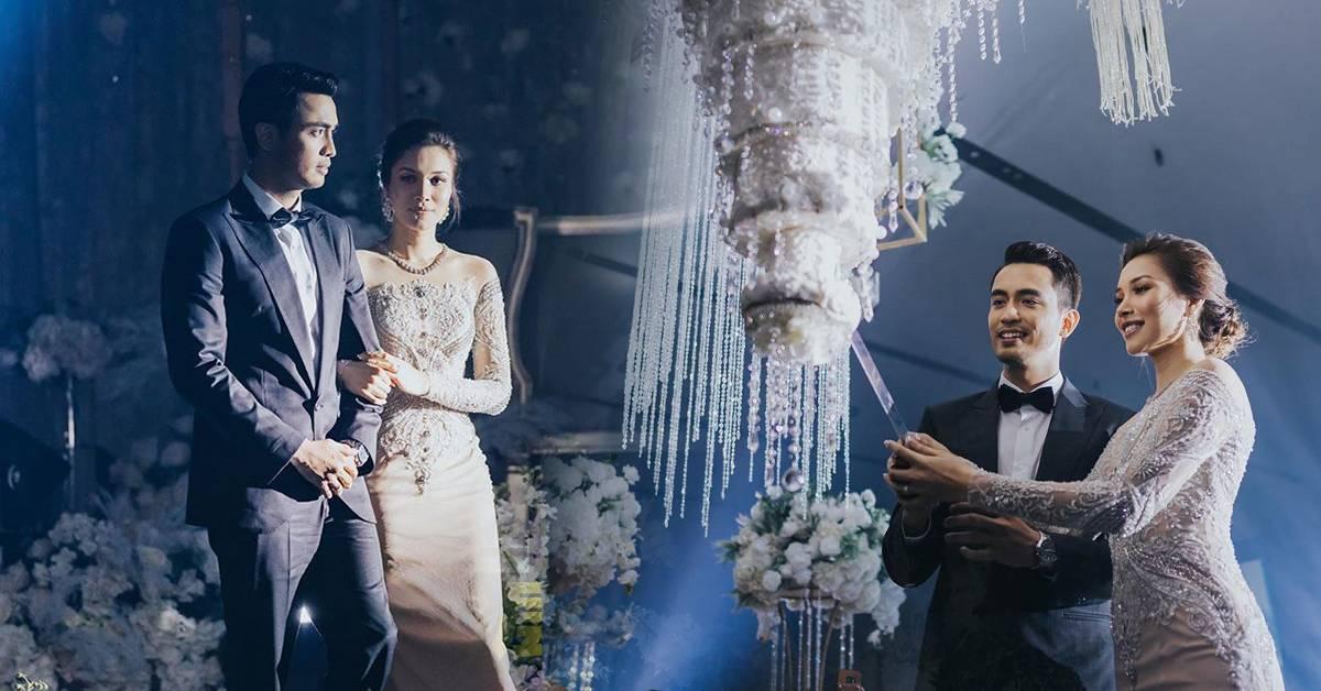 马来艺人结婚超奢华!RM10K 8层蛋糕倒挂从天而降!