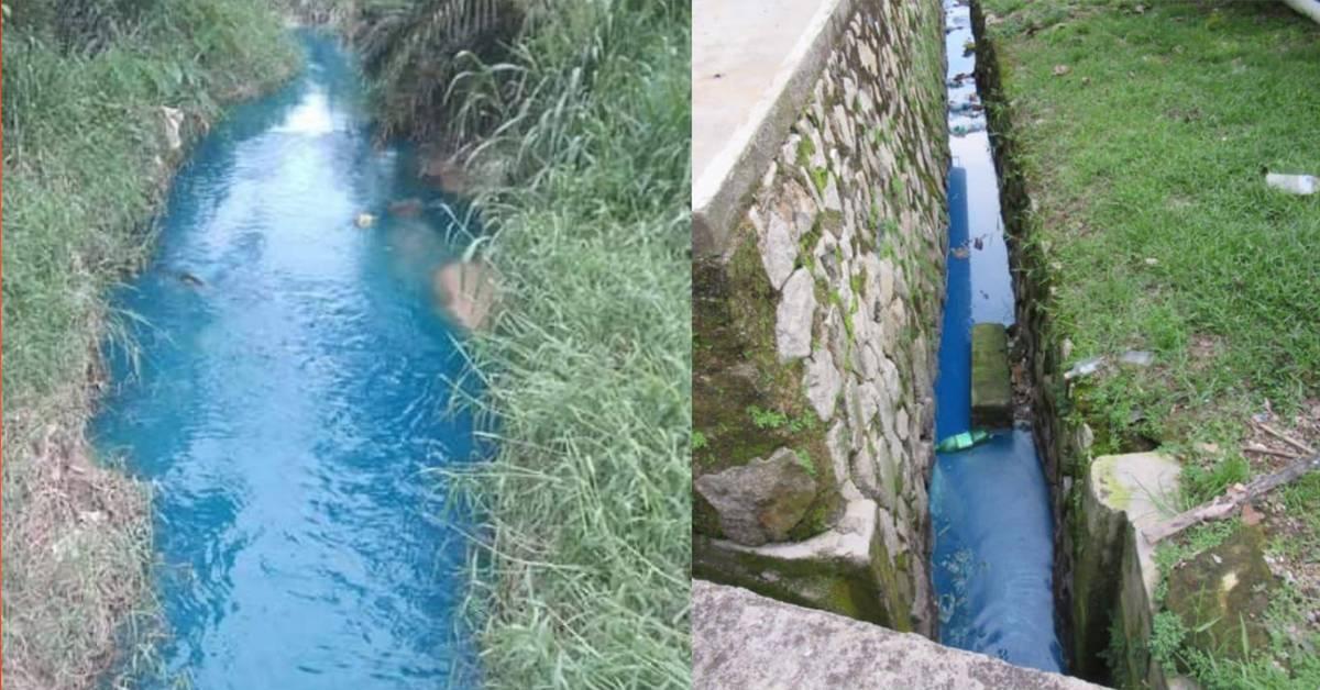 刚放宽MCO就有河流遭严重污染!柔佛出现如汽水般的蓝色河!