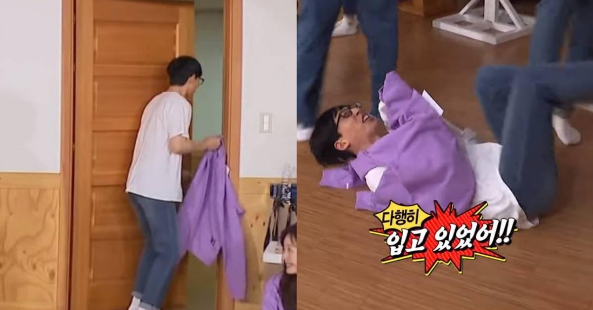 """刘在石误闯宋智孝更衣室,吓到大叫!RM成员""""暴打""""教训他!"""