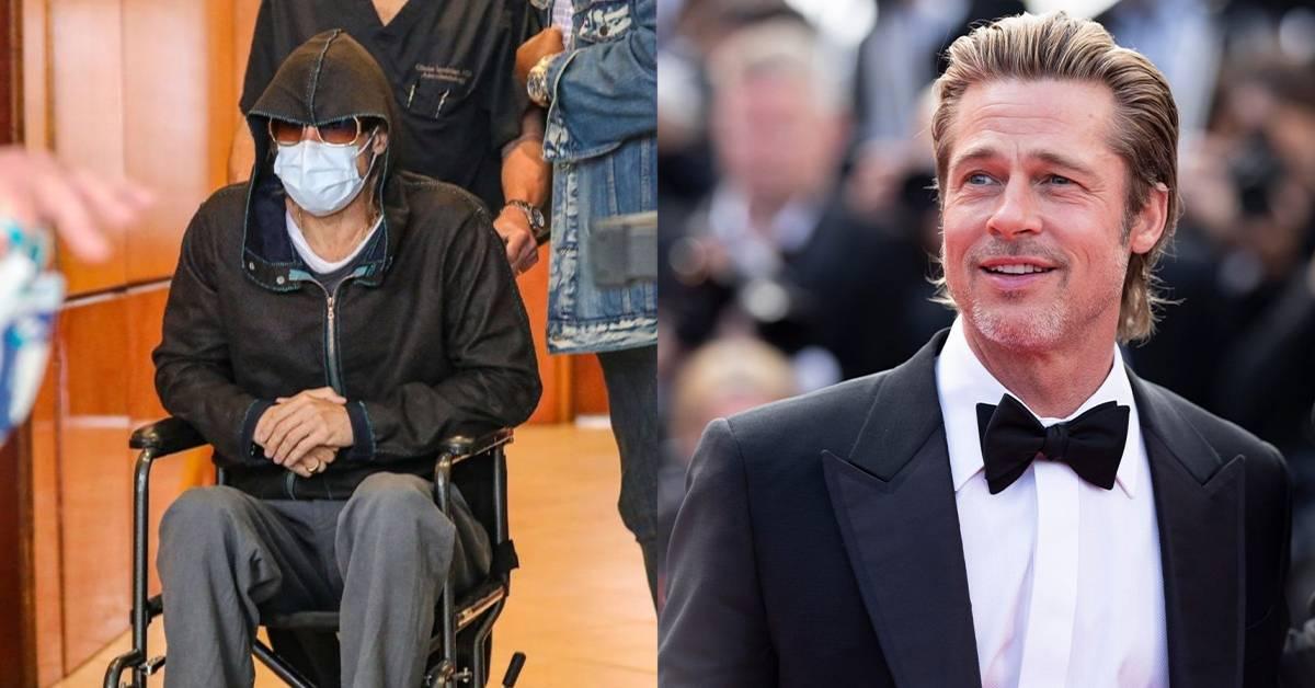 被拍到坐轮椅离开医院!Brad Pitt亲自回应身体状况!