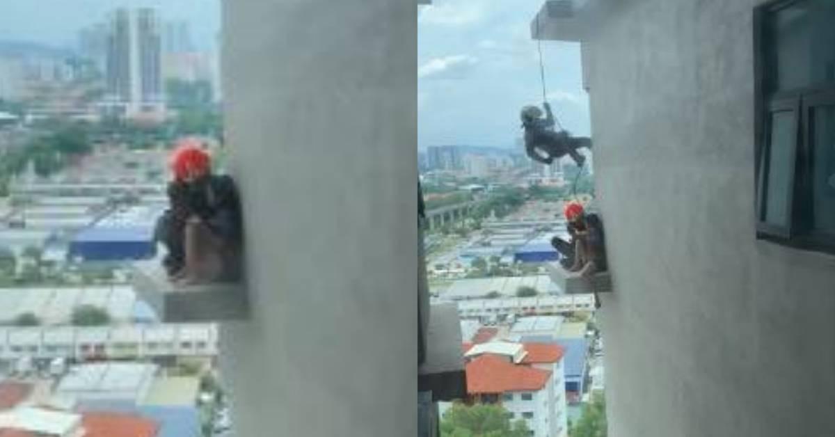 华裔女子企图跳楼自杀  网传是杨姓著名网红!