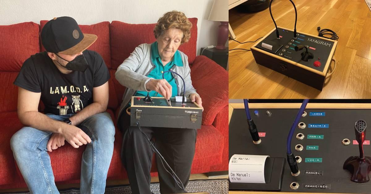 """打造96岁高龄奶奶都会用的通讯器!工程师孙子DIY """"Yayagram"""" 实体电报机!"""