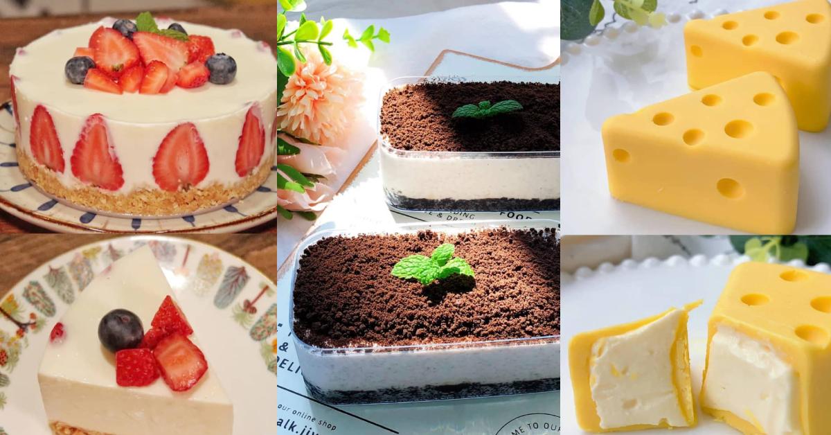 【5款免烤蛋糕做法】可爱卡通芝士小蛋糕,会融化的浓郁慕斯轻松get!