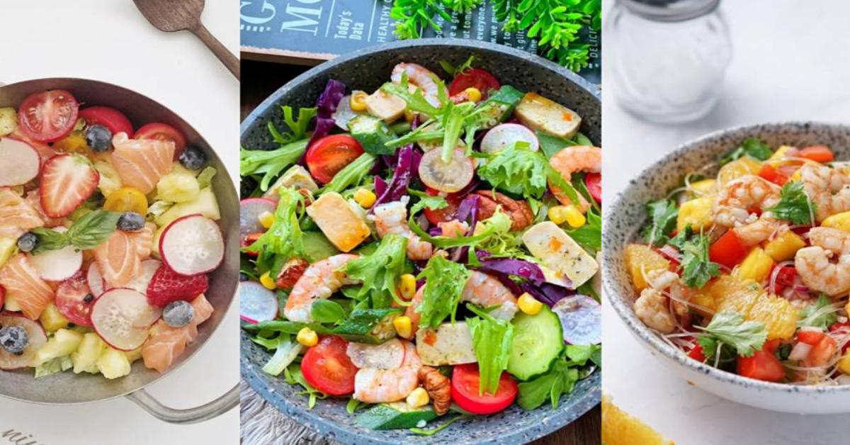 【5道低脂沙拉食谱】食材丰富、营养全面,懒人吃货必备的美味沙拉!