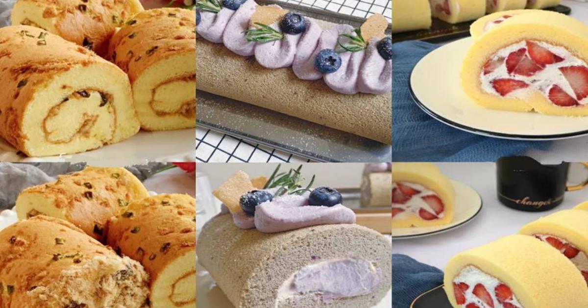 【7步教你做完美瑞士蛋糕卷】这样做怎么卷都不开裂!内附3款蛋糕卷食谱!