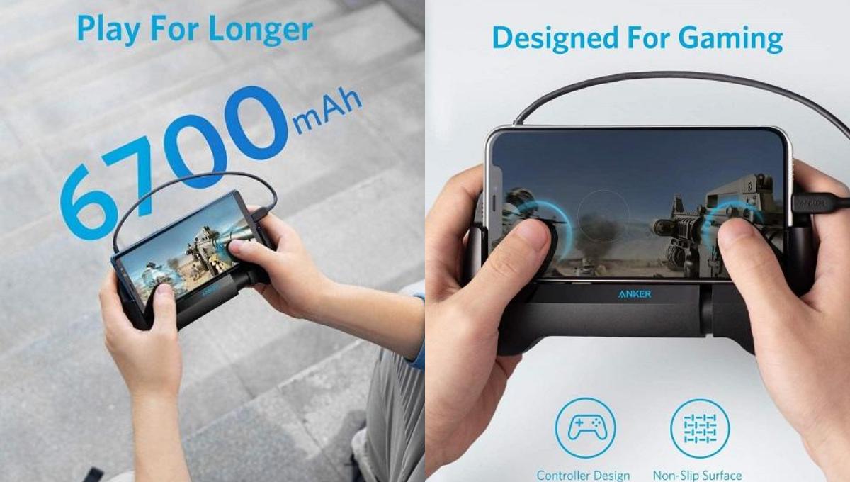 【手游神器!】Anker推出游戏手柄式行动电源!内置6700mAh电池容量和散热风扇!