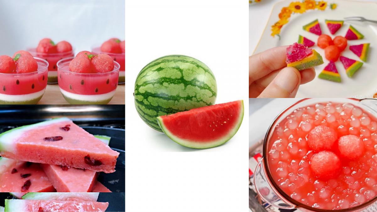 【1粒西瓜可制成的8款甜品】清热解暑,简单易学的甜品食谱秒学会!