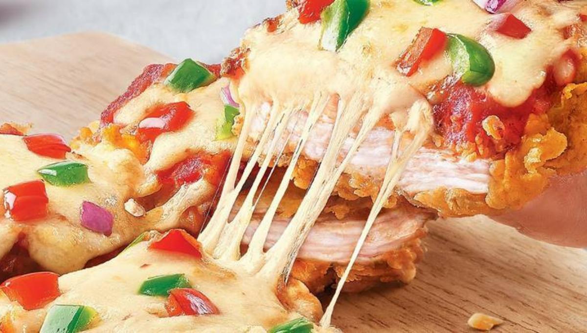 教你做KFC的炸鸡披萨!外酥内嫩超长拉丝好邪恶,火爆网络!