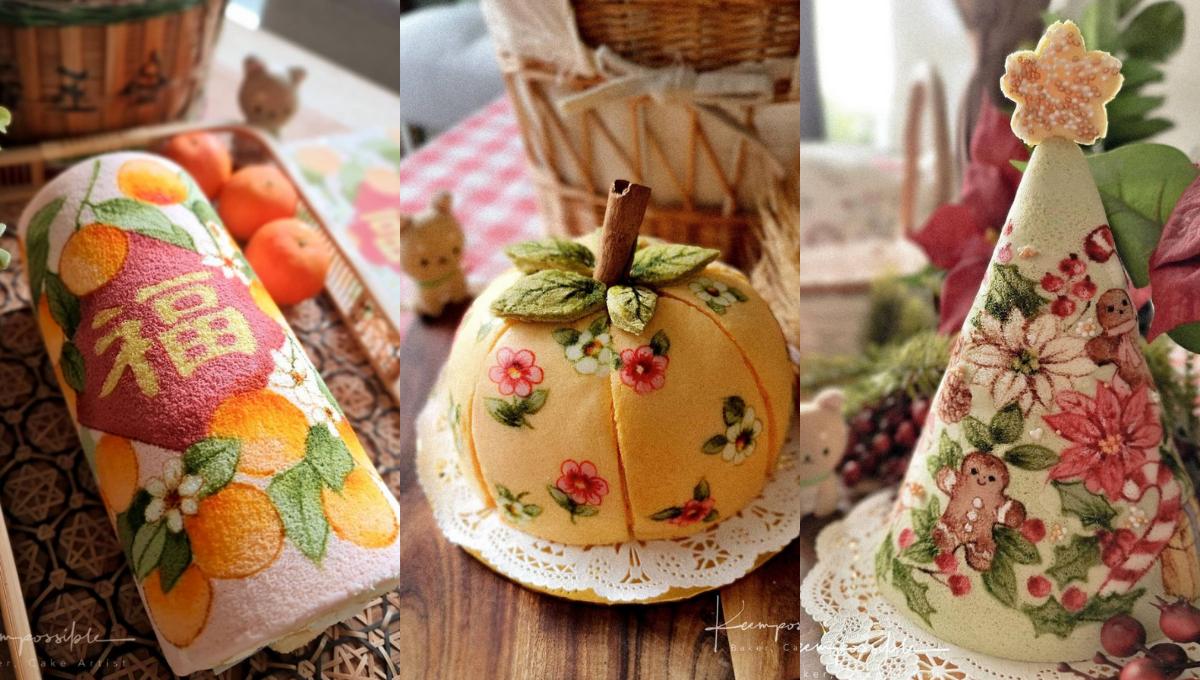 外国的月亮没有特别圆!大马烘焙师也能作出超高颜值的应节蛋糕!