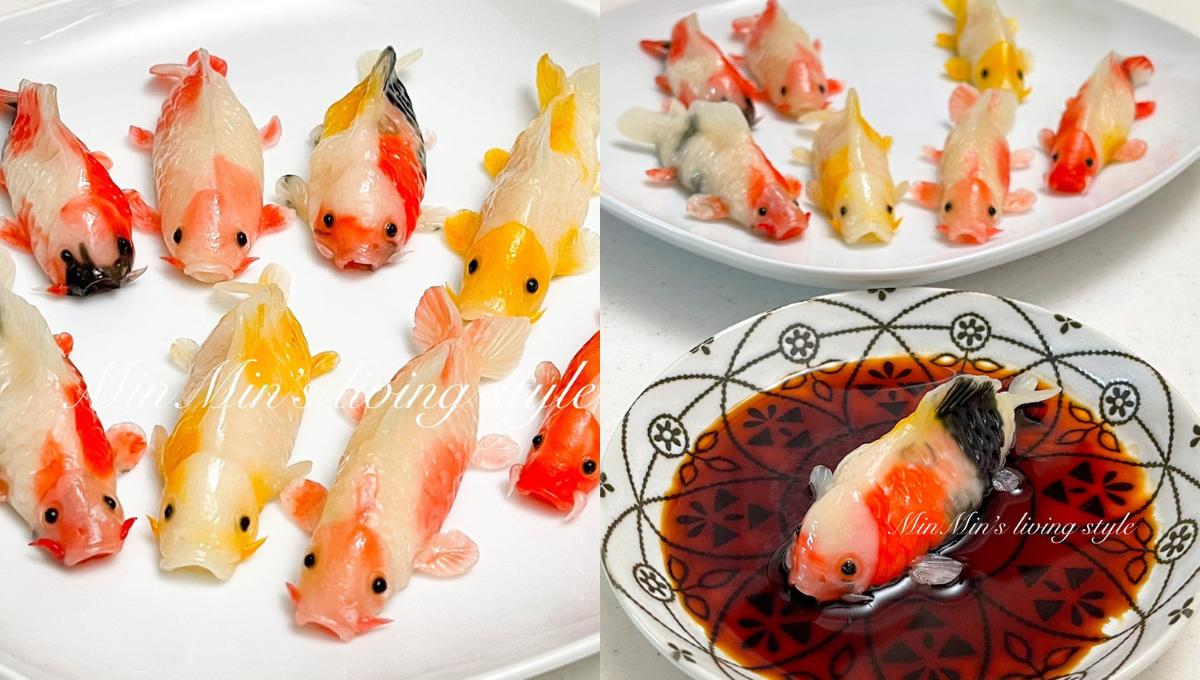 女生再分享「锦鲤花枝虾饺」的做法!金鱼虾饺的进阶版,口感鲜度更棒!