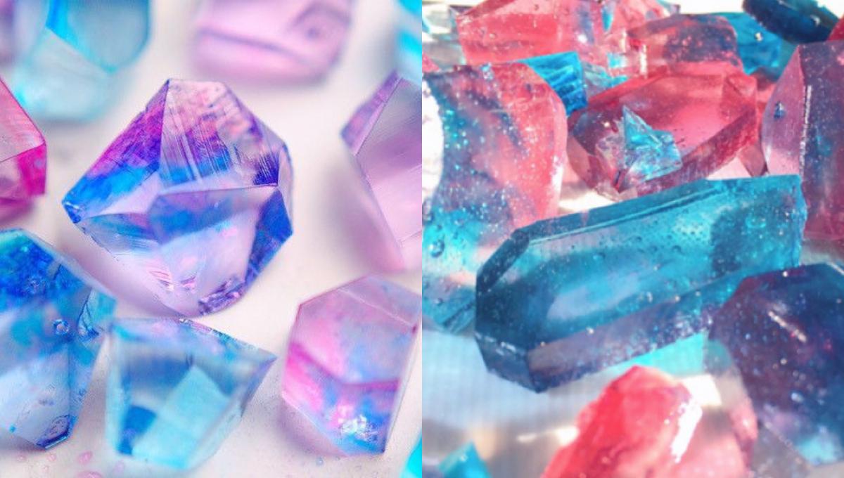 教你做晶莹剔透的日式琥珀糖!宝石般的糖果甜入心扉,情人节必备款!
