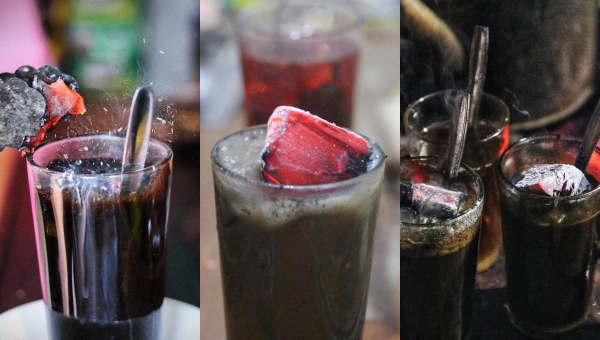 挑战你的胆量,来杯取代冰块的烧炭咖啡吧!黑暗饮料能调理肠胃?!