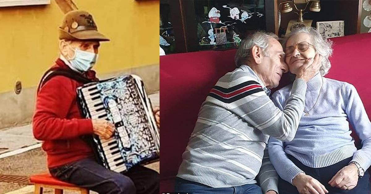 妻子患病入院却不能探望!老翁每天在医院外弹手风琴陪伴她到离世!【内附影片】