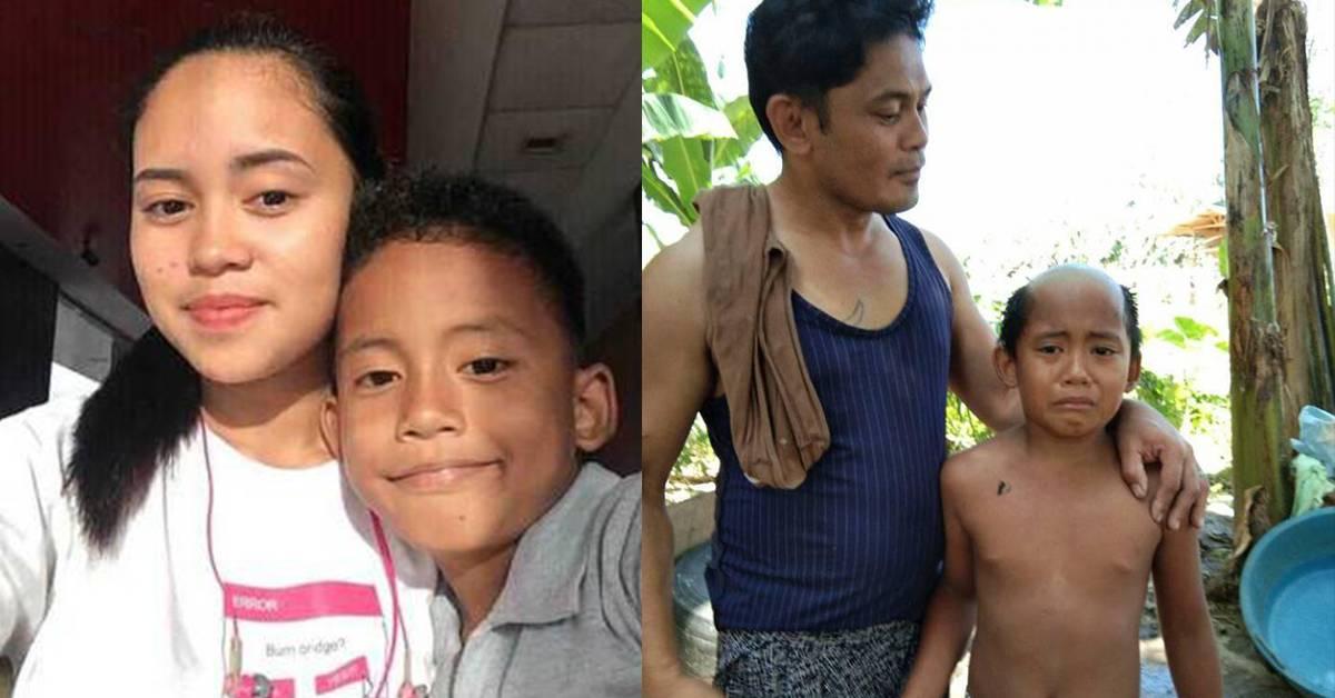 """为了让孩子乖乖待在家里隔离!菲律宾父亲出狠招把孩子剃成""""地中海秃头""""!"""