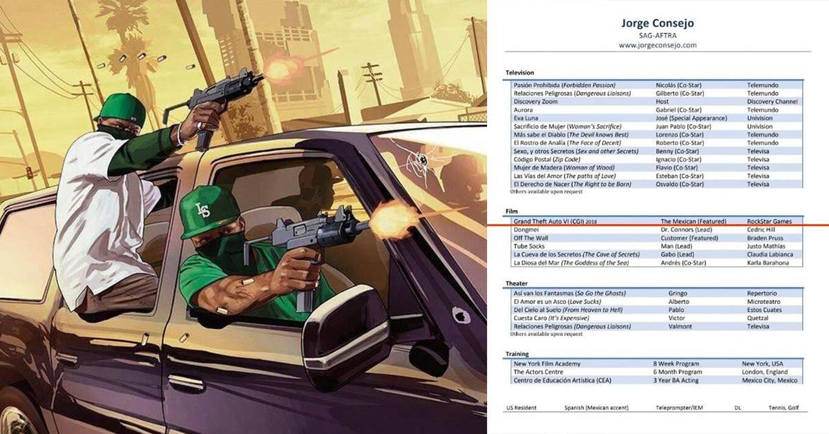 墨西哥演员履历曝光!曾参演《GTA 6》游戏角色?!