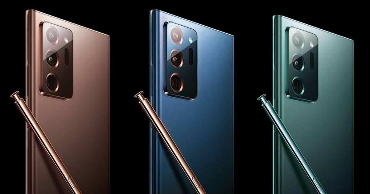 Samsung Galaxy Note20新渲染图曝光!超美铜色、蓝色、绿色8月5日即将发布?!