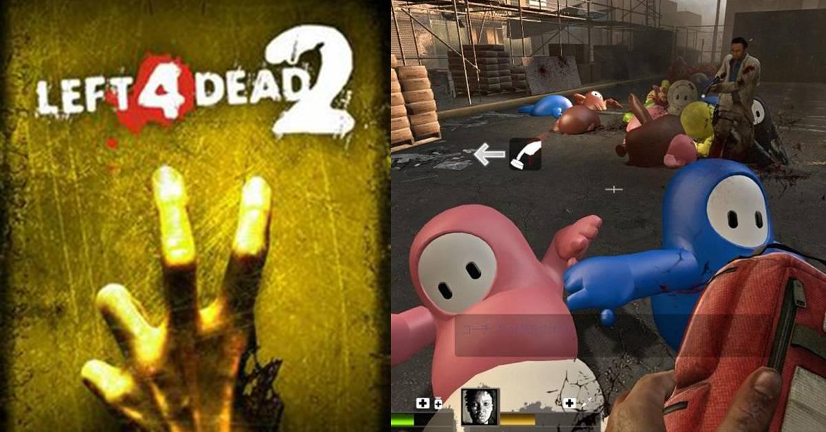 """玩家开发超""""恐怖""""mods!《Left 4 Dead 2》丧尸竟变糖豆人?!"""