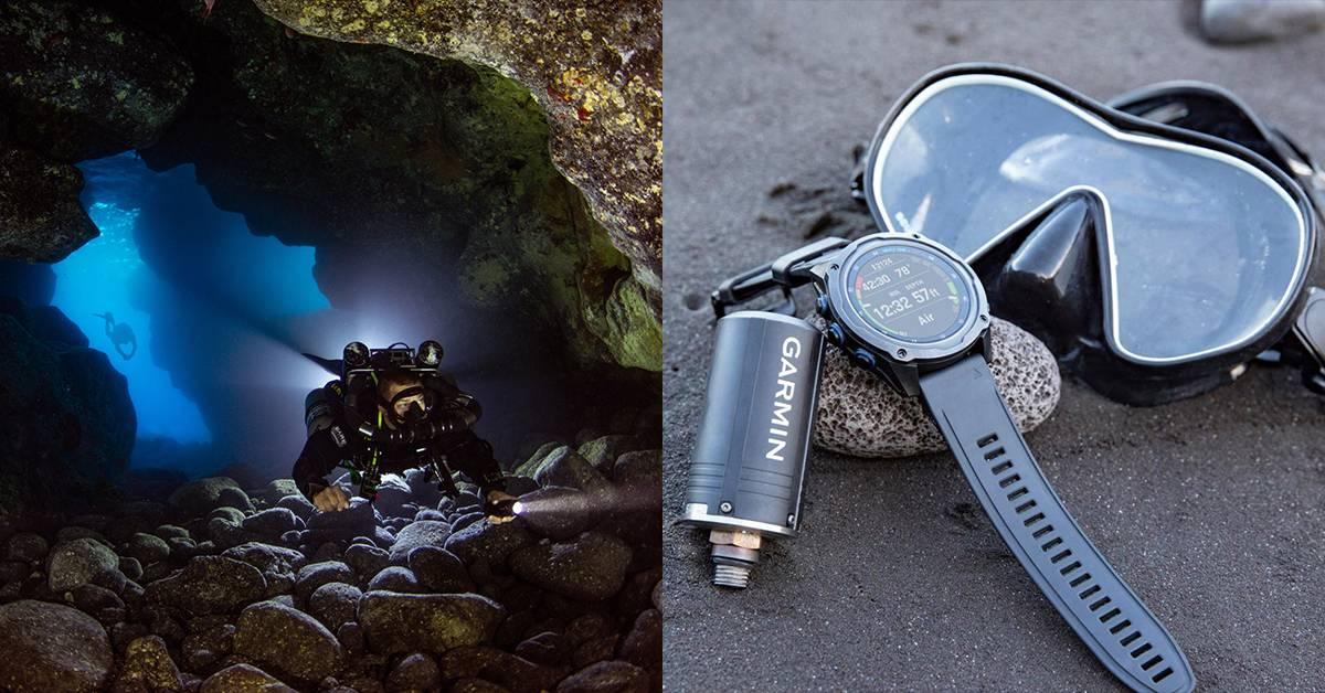 潜水必备工具!Garmin Descent Mk2系列+气瓶传感器,让你潜水旅途更安心!