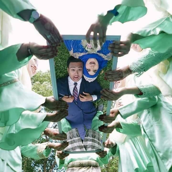 马来新人创意婚纱照爆红社交媒体,网友看了疯狂吐槽