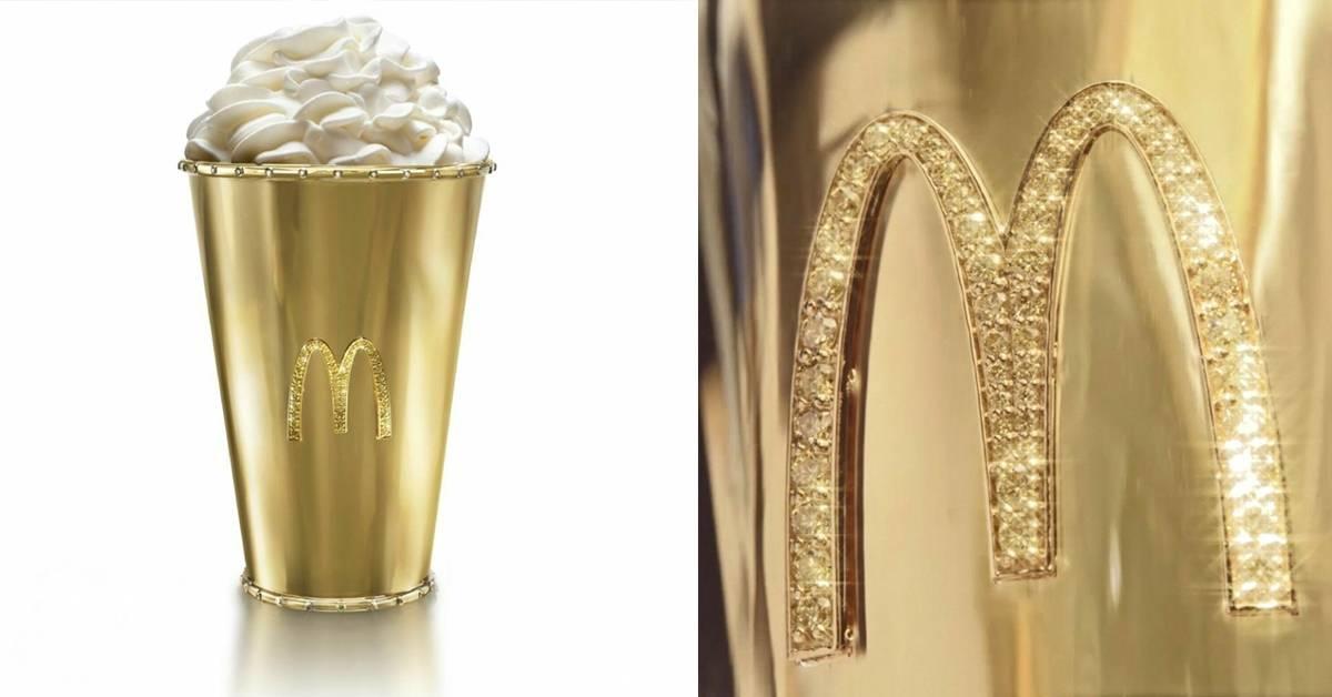 麦当劳推出镶白钻18K金「金杯」!价格超过RM420K成最贵纪念品?!