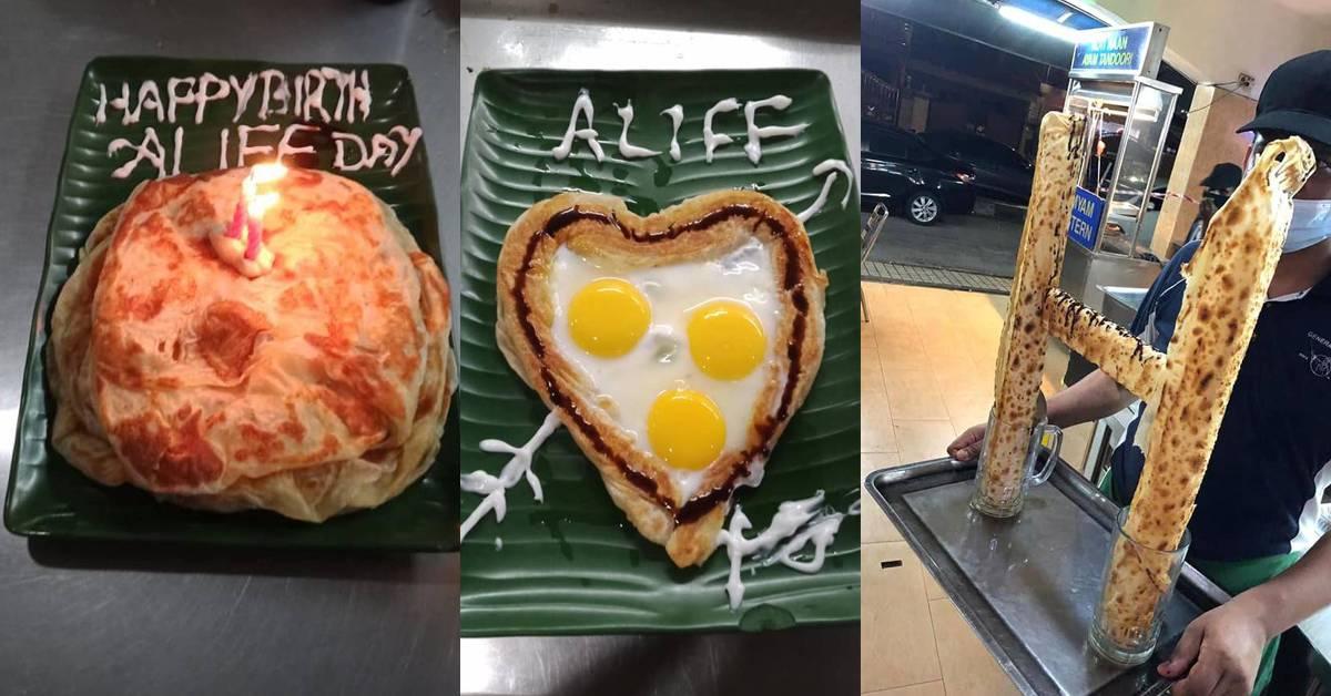 Mamak再玩出新花样!超壮观的Roti Canai KLCC引起热潮,还可做成蛋糕庆生!