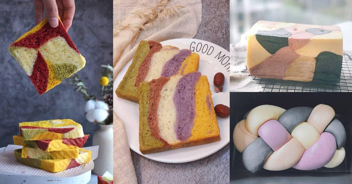 【8种彩色面包的花样做法】超漂亮配色+香气十足,比面包铺卖的还漂亮!