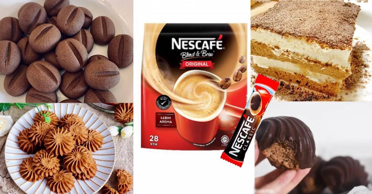 【一包NESCAFÉ可制成的甜点】必GET免烤箱提拉米苏蛋糕+酥脆到爆的咖啡豆饼干!