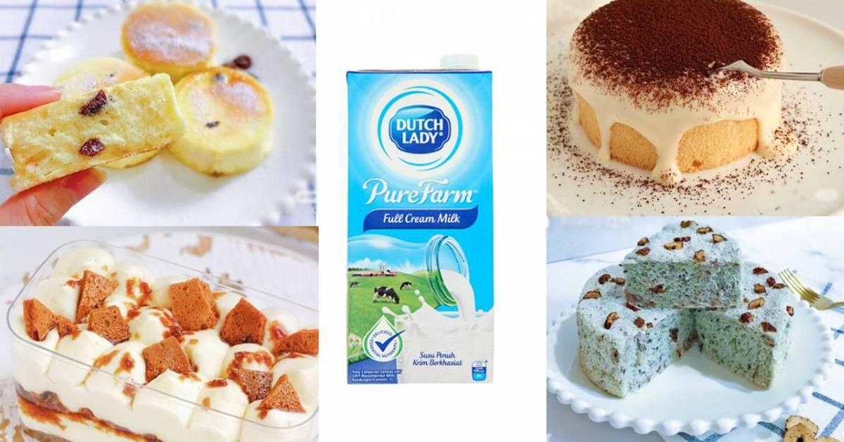 【Dutch Lady牛奶可制成的8款蛋糕 Part 2】烤蒸均合适,每一款都绵密香甜!