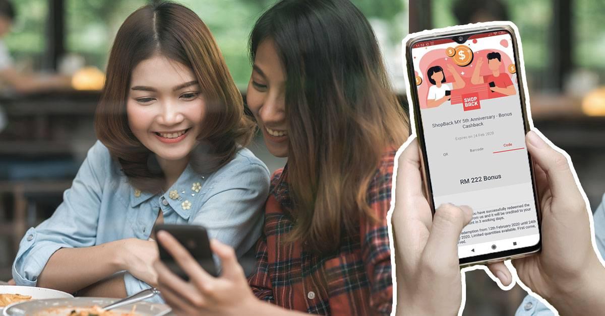 大马网友教网购如何领超过RM1000回扣!ShopBack五周年庆送最高RM222回扣!