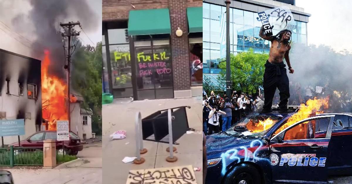 美国已成人间炼狱!CNN总部被烧、多地爆发示威!抗议暴力执法害死黑人!