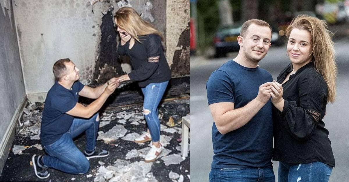 史上最乌龙的求婚计划!男子点100支蜡烛求婚却把家里给烧了!