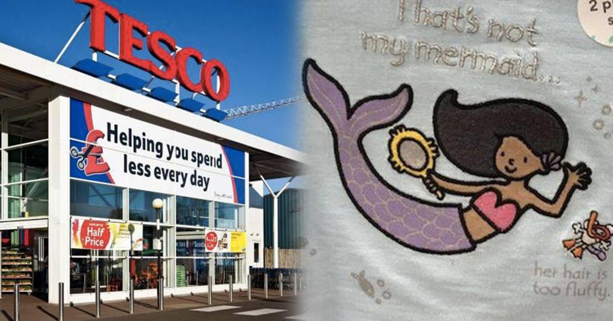 眼尖妈妈发现Tesco售卖有种族歧视的儿童衬衫!原因和美人鱼的头发有关?