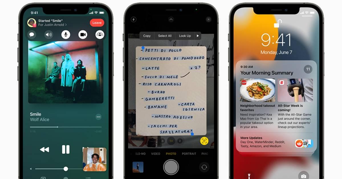 iOS 15 全新升级5大功能!FaceTime 能与Android、Windows通用!