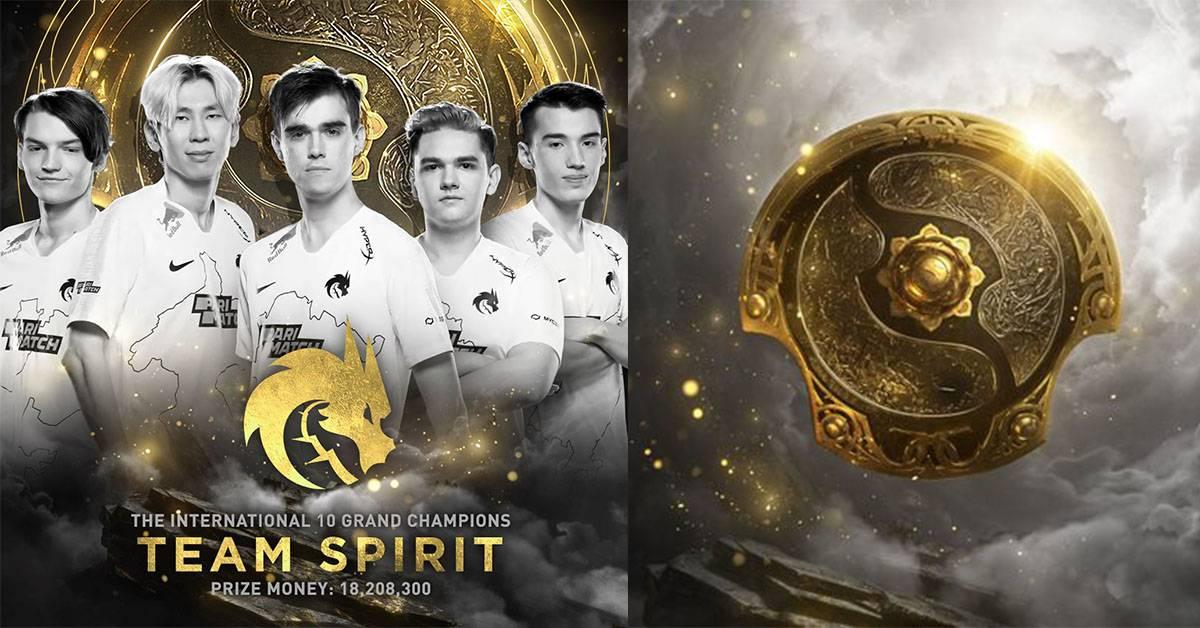 【The International 决赛成绩】苦战五局最终夺冠!Team Spirit是The International 10冠军!