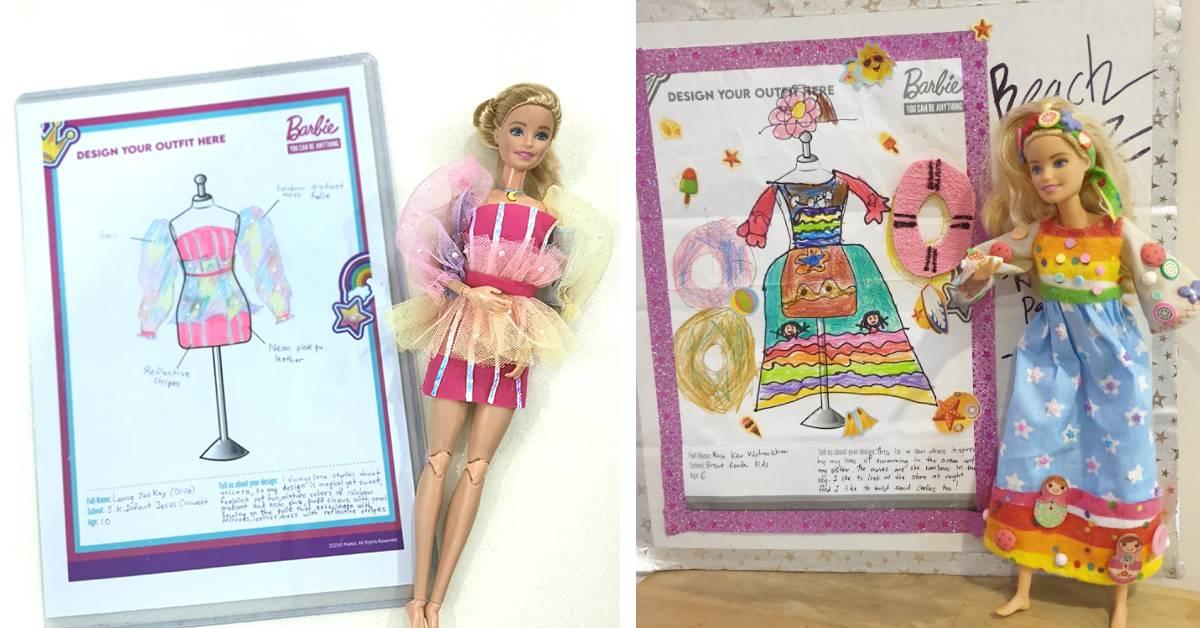 Barbie®与时尚团队让女孩们美梦成真!设计创意服装,还能和芭比娃娃穿同款!