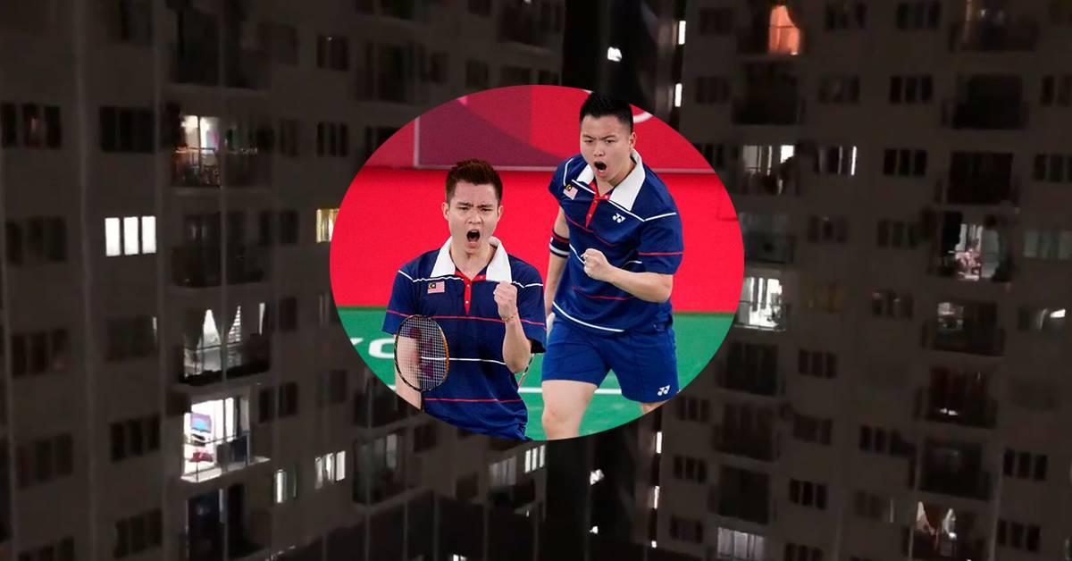 【2020东奥】大马队摘铜,3栋公寓居民高声欢呼!印尼对手赛后表示:谢苏表现很出色!【内有影片】