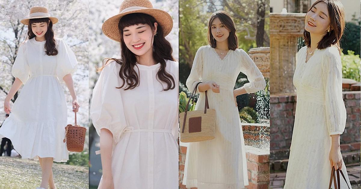 衣橱里一定要有一件小白裙!优雅又浪漫,時尚博主都在穿!