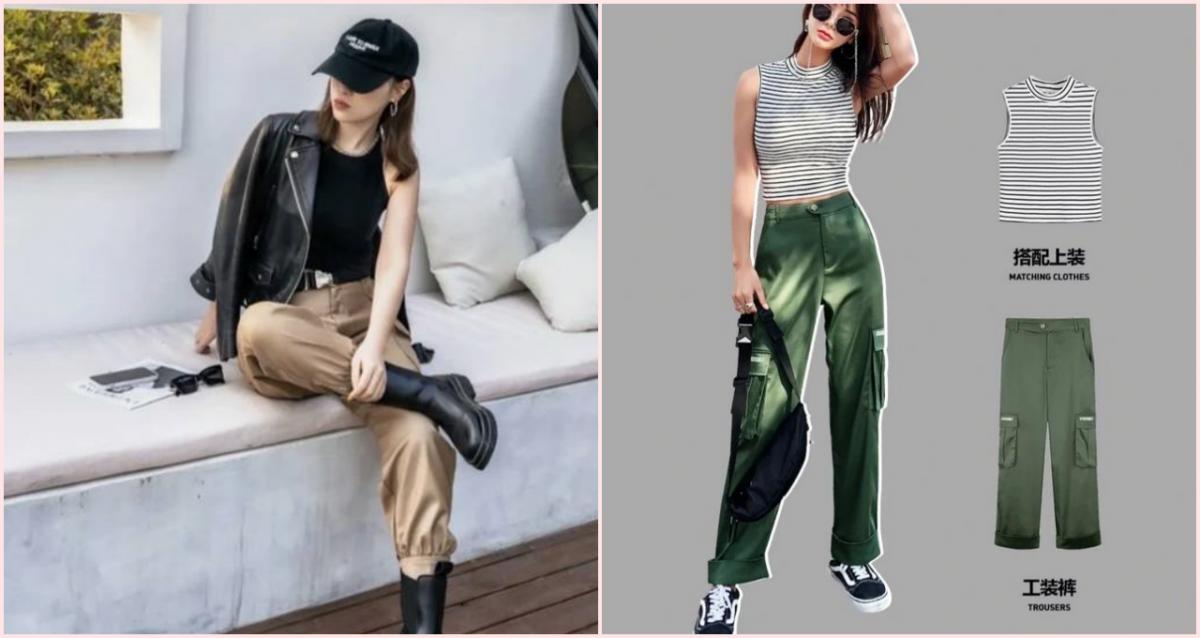 喜欢工装裤,却不知道怎么搭配?工装裤这么搭更好看!