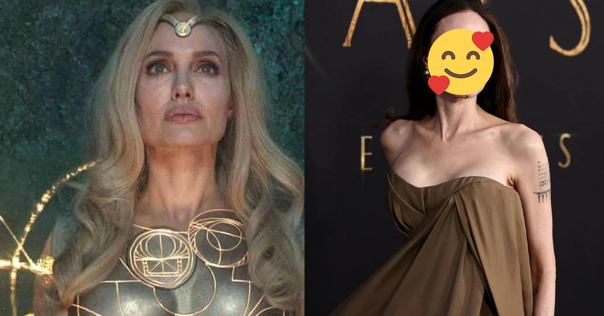 Angelina Jolie出席《永恒族》首映礼!唇上唇钉成大亮点!