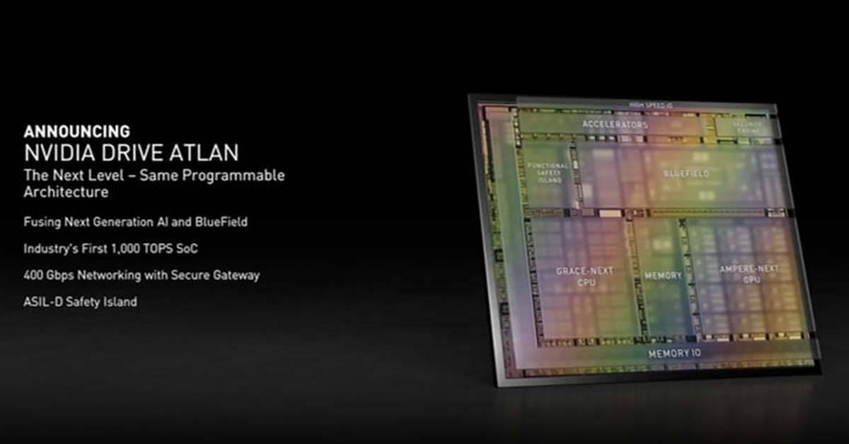 NVIDIA开发最新自动驾驶计划——DRIVE ATLAN!晶片运算能力号称比Tesla还强!